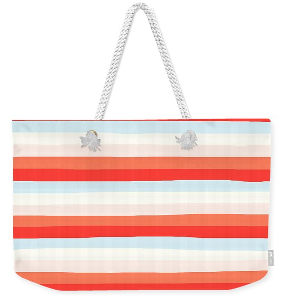 lumpy or bumpy lines abstract and colorful - QAB266 Weekender Tote Bag