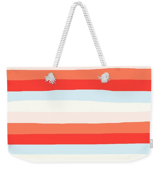 lumpy or bumpy lines abstract and colorful - QAB268 Weekender Tote Bag
