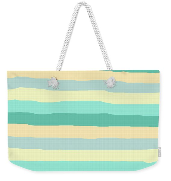 lumpy or bumpy lines abstract and summer colorful - QAB271 Weekender Tote Bag