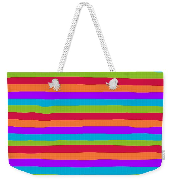 lumpy or bumpy lines abstract and summer colorful - QAB273 Weekender Tote Bag