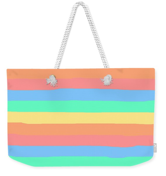 lumpy or bumpy lines abstract and summer colorful - QAB275 Weekender Tote Bag