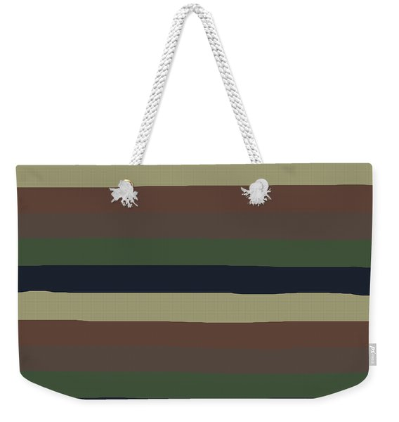 Army Color Style Lumpy Or Bumpy Lines - Qab279 Weekender Tote Bag