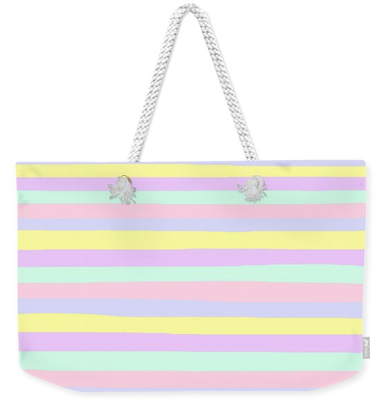 lumpy or bumpy lines abstract - QAB283 Weekender Tote Bag