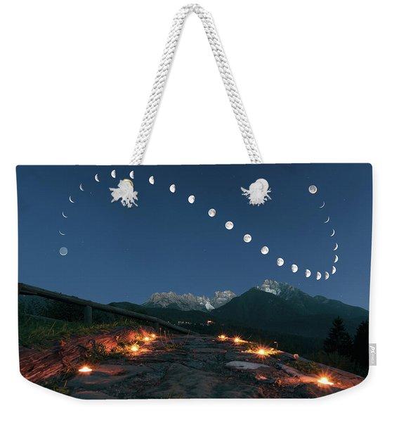 Lunar Curve Weekender Tote Bag