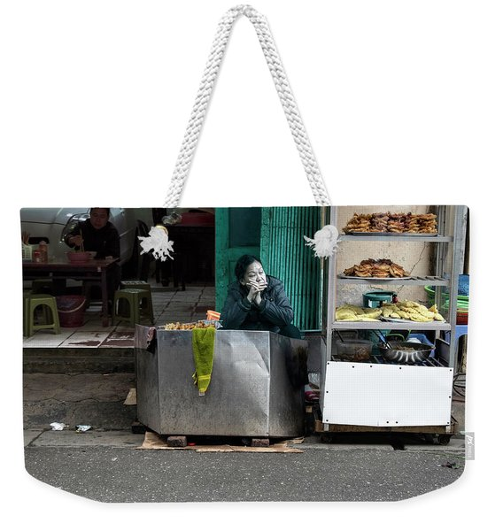 Lunch Time In Vietnam Weekender Tote Bag