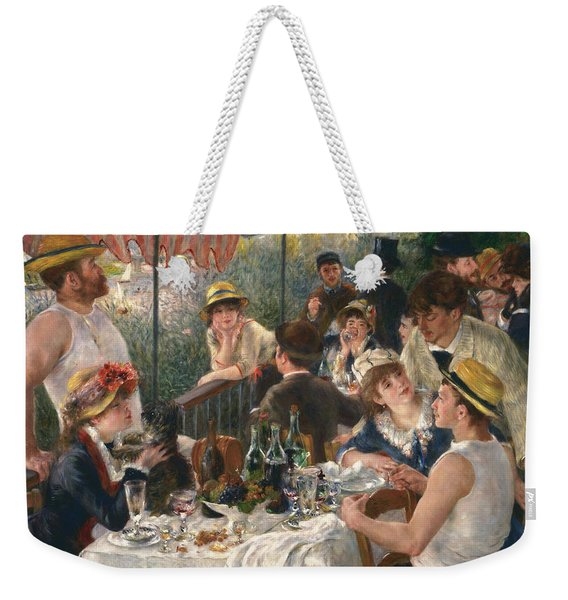 Luncheon Of The Boating Party, 1880-1881 Weekender Tote Bag