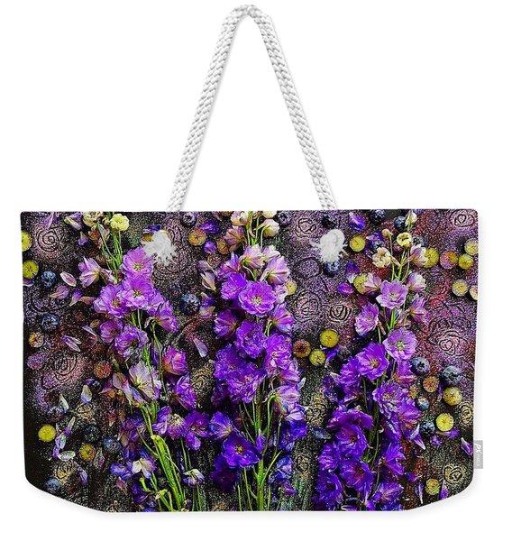 Lupine And Blueberries  Weekender Tote Bag