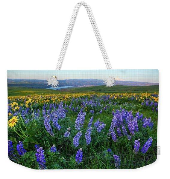 Lupines At Sunrise Weekender Tote Bag