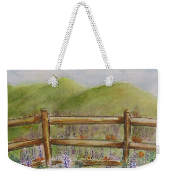 Lupines With A Side Of Poppies Weekender Tote Bag