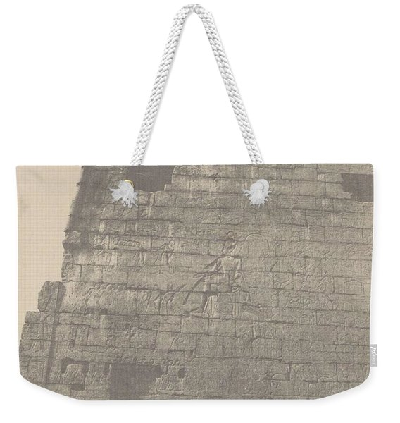 Luxor Historical Sculptures Of Pylon  Massif Right    Weekender Tote Bag