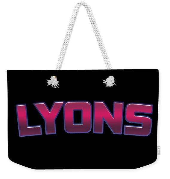 Lyons #lyons Weekender Tote Bag