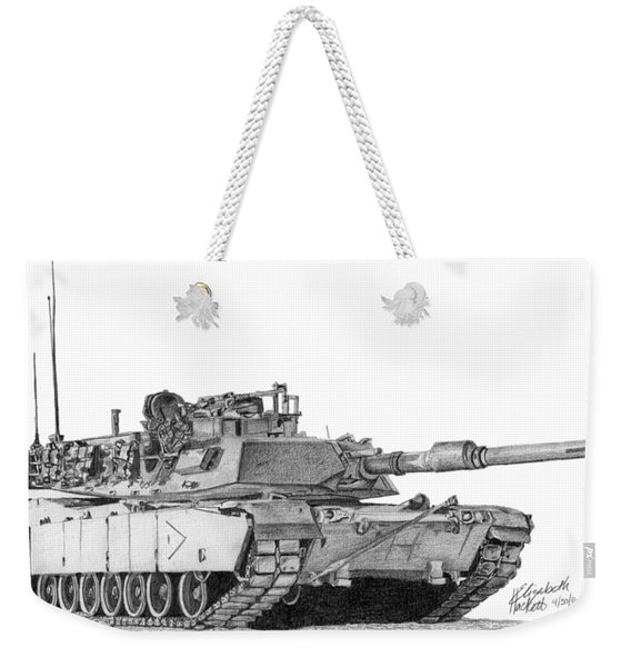 M1a1 B Company 1st Platoon Commander Weekender Tote Bag
