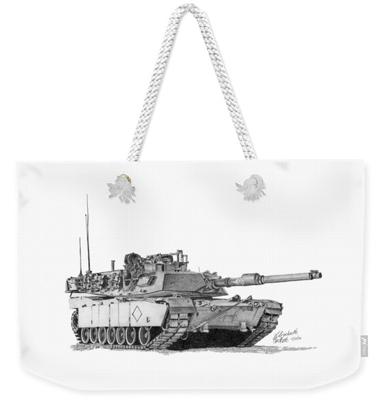 M1a1 Battalion Commander Tank Weekender Tote Bag