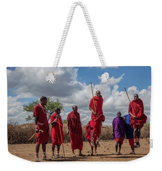 Maasai Adumu Weekender Tote Bag
