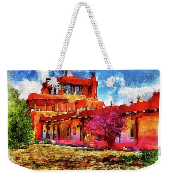 Mabel's Courtyard In Aquarelle Weekender Tote Bag