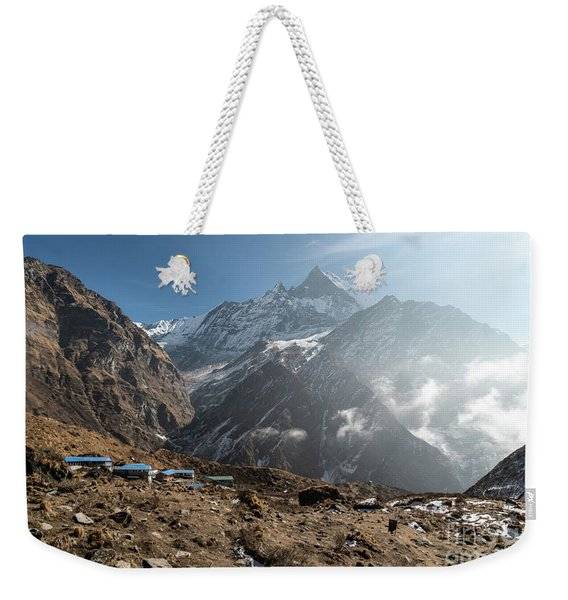 Machhapuchhare Base Camp In Nepal Weekender Tote Bag