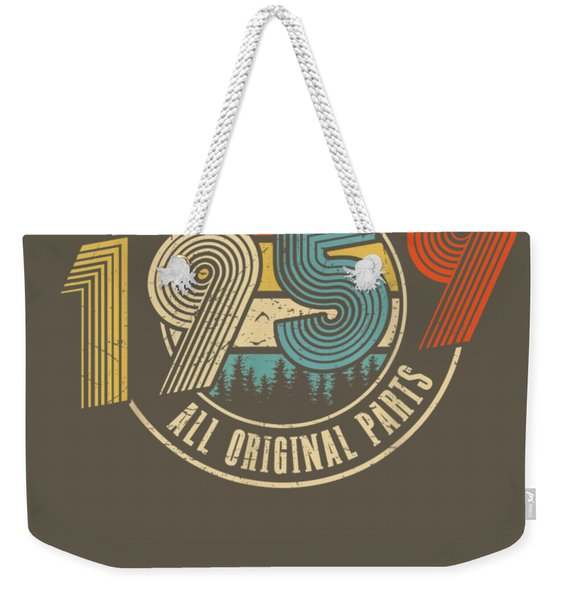 Made In 1959 T-shirt Vintage 60th Birthday 60 Years Old Gift Weekender Tote Bag