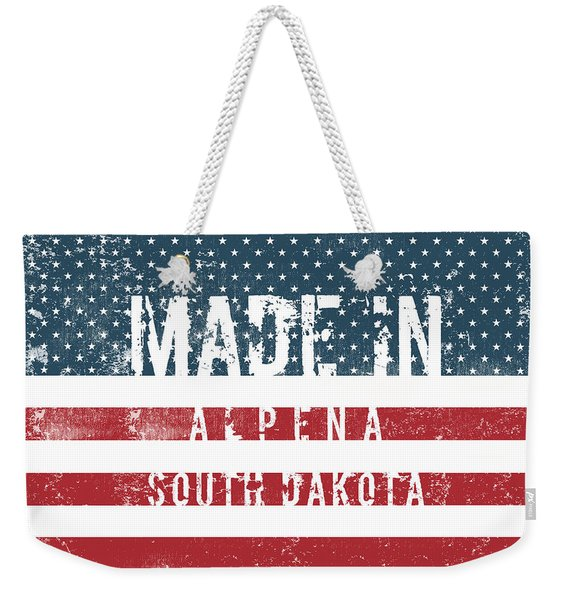 Made In Alpena, South Dakota #alpena #south Dakota Weekender Tote Bag