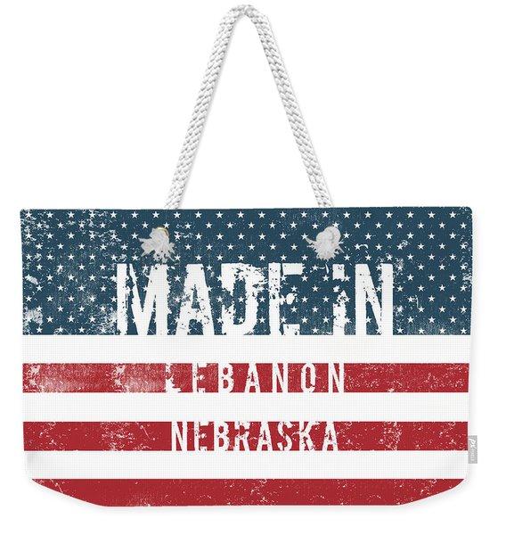Made In Lebanon, Nebraska Weekender Tote Bag