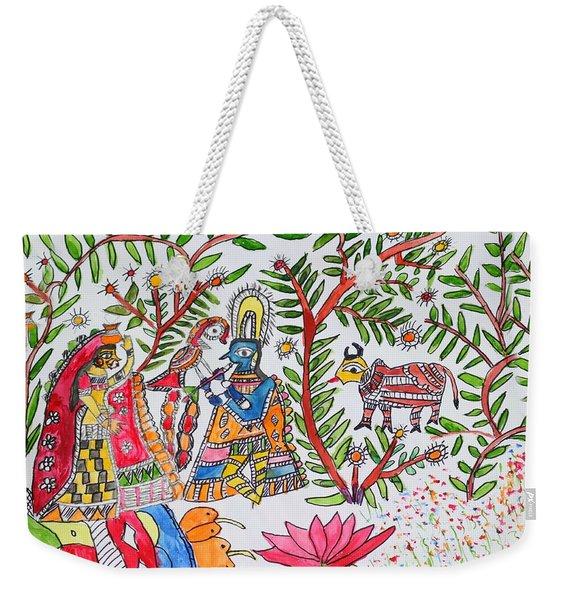 Madhubani Art11 Weekender Tote Bag