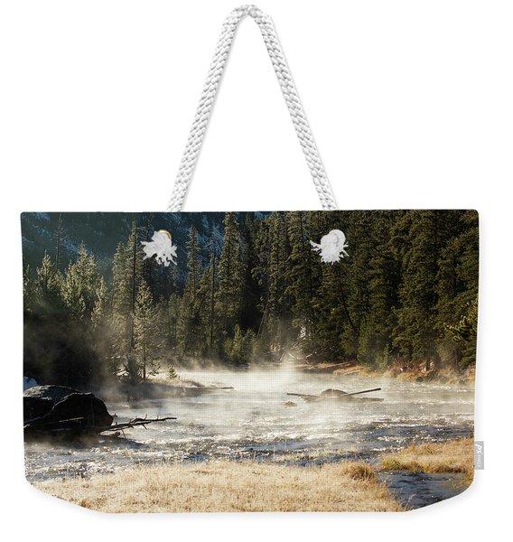 Madison River Morning Weekender Tote Bag
