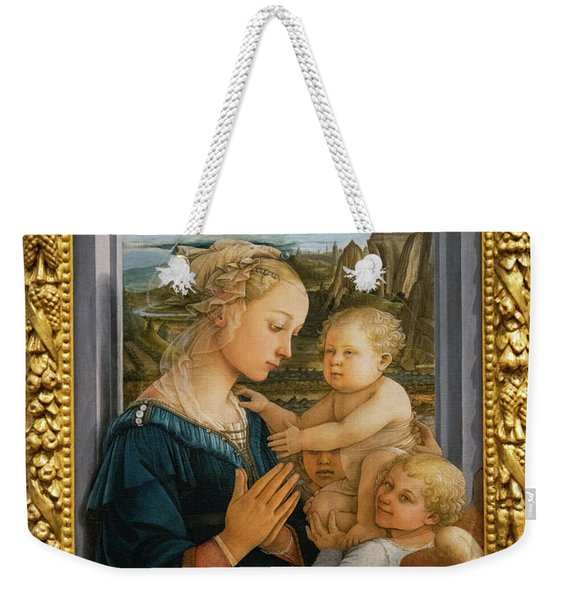 Madonna And Child Lippi The Uffizi Gallery Florence Italy Weekender Tote Bag