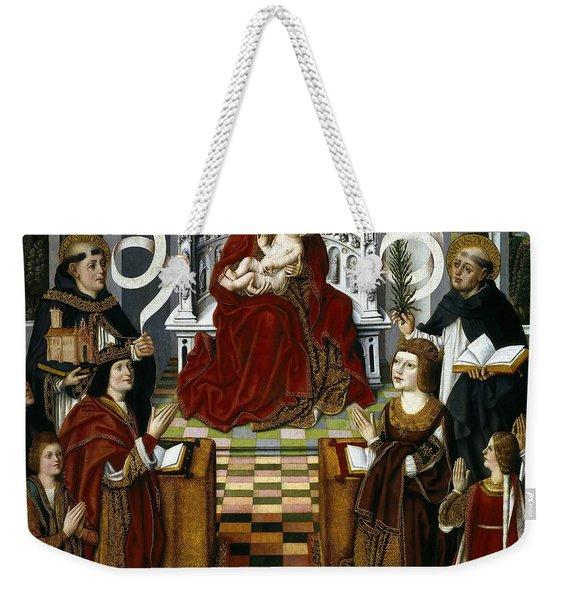 Maestro De La Virgen De Los Reyes Catolicos / 'the Virgin Of The Catholic Kings', 1491-1493. Weekender Tote Bag