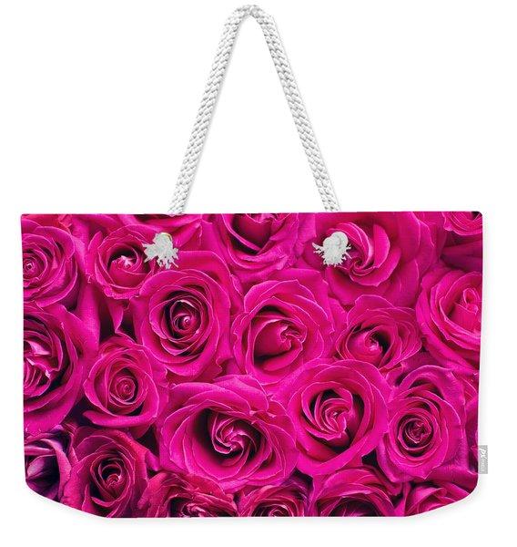 Magenta Roses Weekender Tote Bag