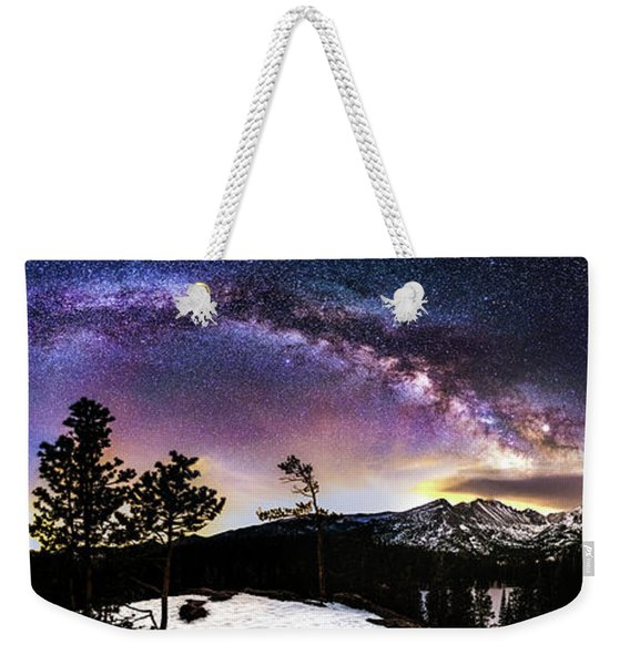 Magic Above Rocky Mountain National Park Weekender Tote Bag