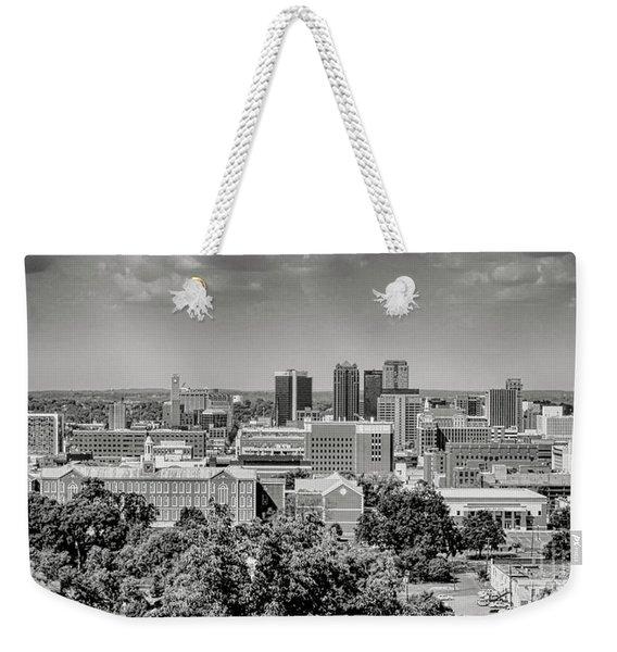 Magic City Skyline Bw Weekender Tote Bag