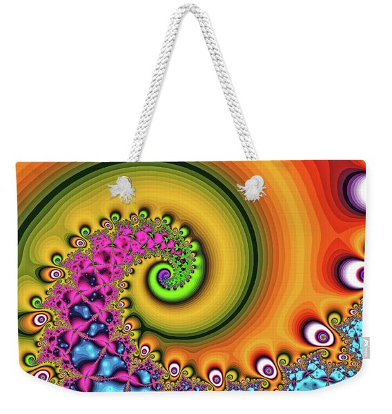 Magic Hook Orange Art Weekender Tote Bag