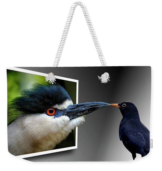 Weekender Tote Bag featuring the photograph Magic Mirror On The Wall by Bill Swartwout Photography