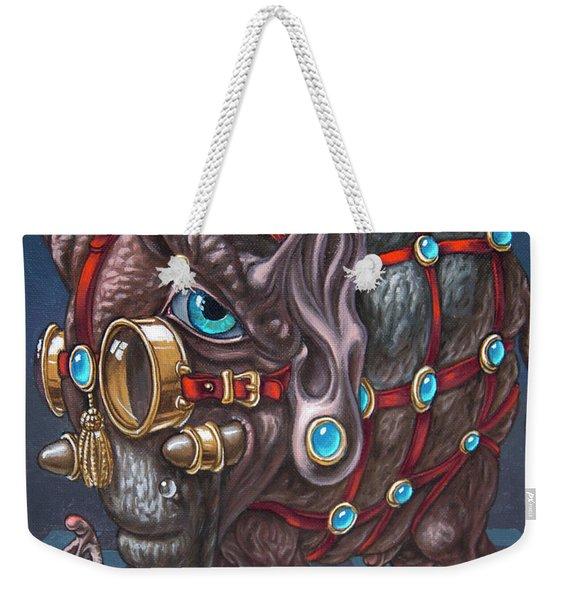 Magical Many-eyed Elephant Weekender Tote Bag
