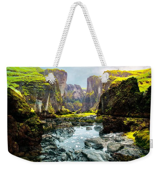 Magnificent Rural Canyons Montage Weekender Tote Bag