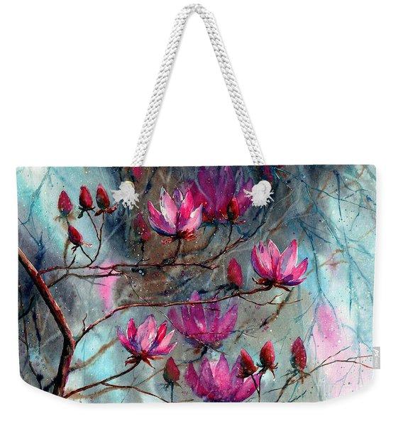 Magnolia At Midnight Weekender Tote Bag