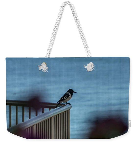 Magpie Bird Weekender Tote Bag