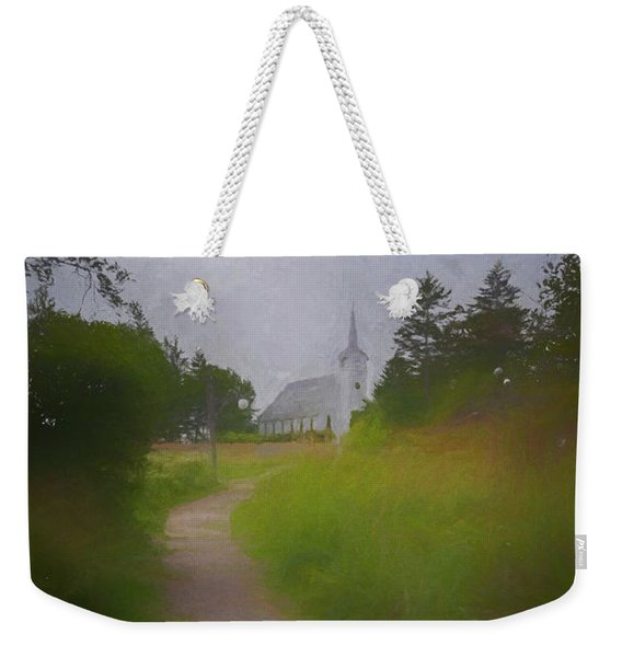 Maine Island Chapel Weekender Tote Bag