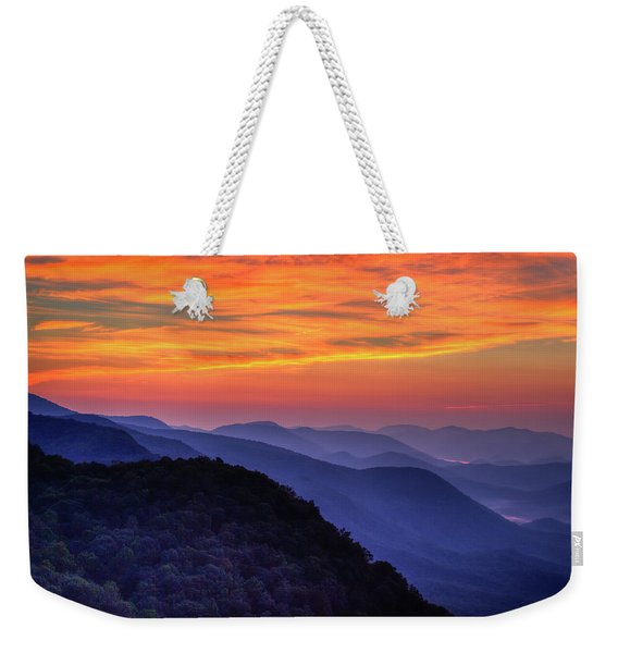 Majestic Blue Ridges 2 Pretty A Place Chapel Sunrise Great Smoky Mountains Art Weekender Tote Bag