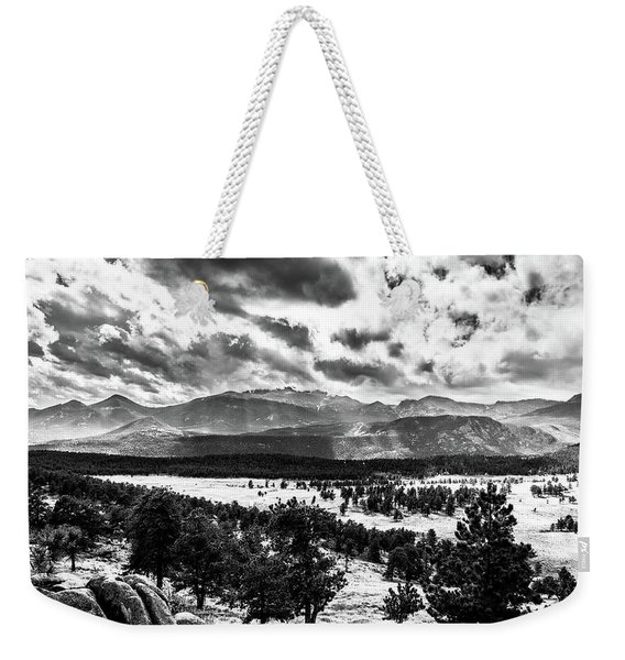 Majestic Clouds Bw Weekender Tote Bag