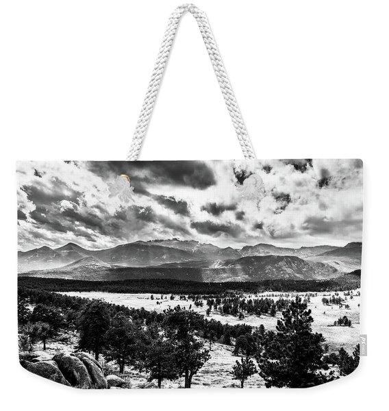 Majestic Clouds Bw Weekender Tote Bag