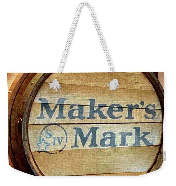 Makers Mark Barrel Weekender Tote Bag