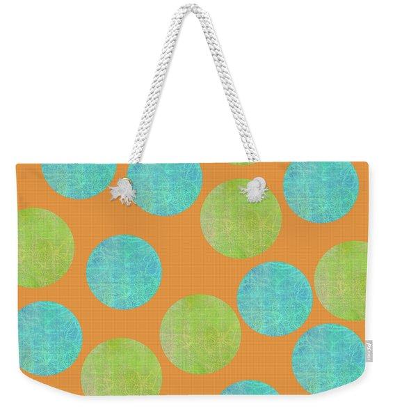Malaysian Batik Polka Dot Print Weekender Tote Bag