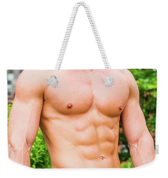 Male Torso 3 Weekender Tote Bag