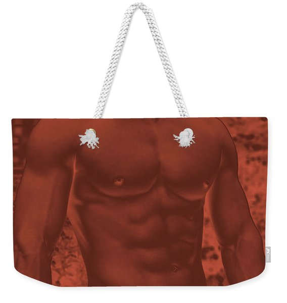 Male Torso Weekender Tote Bag