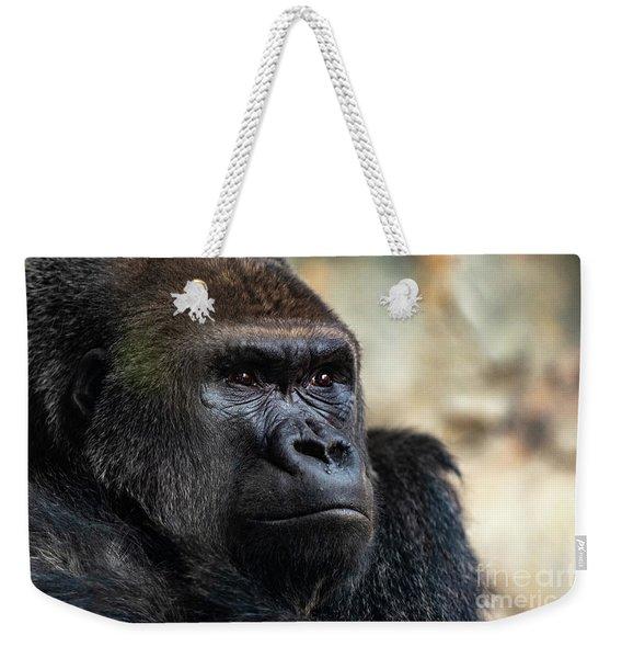 Male Western Gorilla Looking Around, Gorilla Gorilla Gorilla Weekender Tote Bag