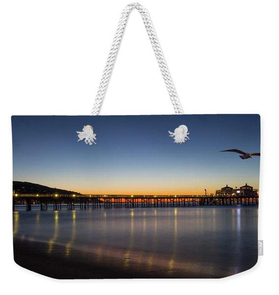 Malibu Pier At Sunrise Weekender Tote Bag