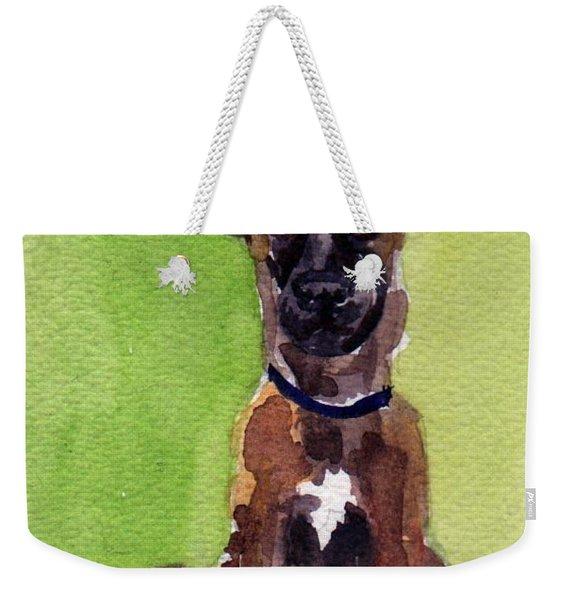 Malinois Pup 2 Weekender Tote Bag