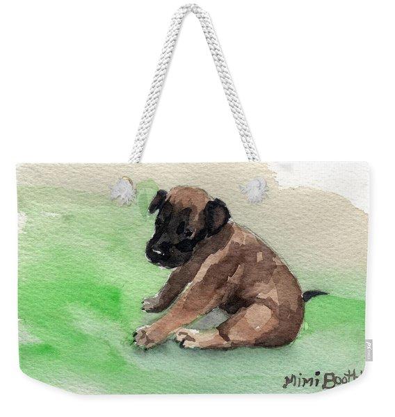 Malinois Pup 3 Weekender Tote Bag
