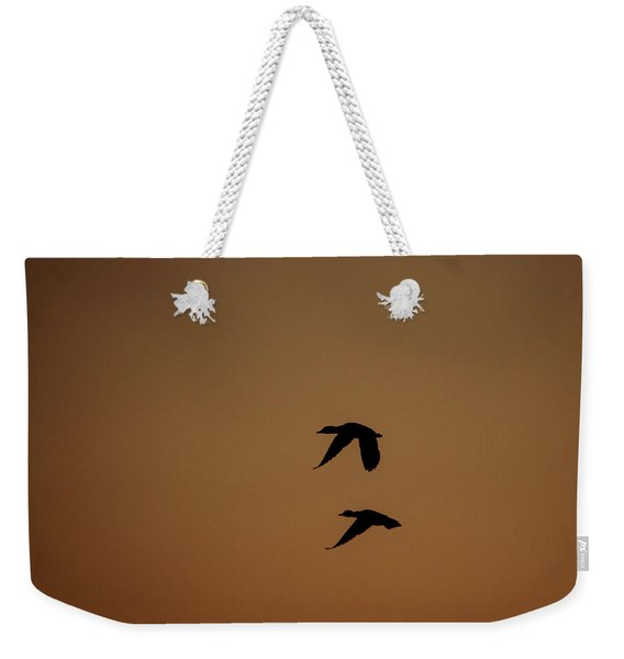 Mallard Morning Weekender Tote Bag