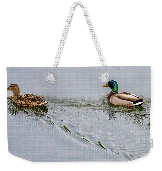 Mallard Pair Weekender Tote Bag